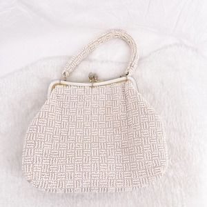 Conmar Pearl Handmade Purse with Clasp Closure